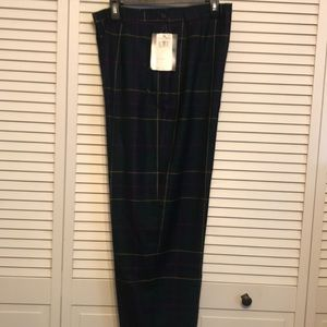 Pendleton Tartan Plaid Virgin Wool Pants NWT Sz16
